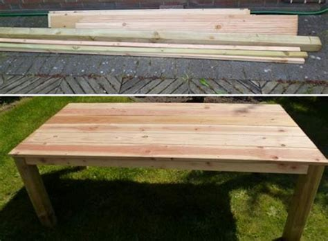 gartenmöbel aus bauholz selber bauen gartentisch aus holz selber bauen tisch aus bauholz