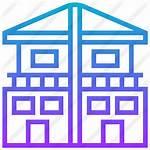 Duplex Icon Attached Premium Townhouse Units Icons