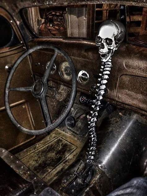 spine  skull shifter rat rods truck rat rod rat rod
