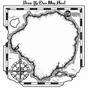 Pirate Treasure Map Coloring Page - Coloring Home