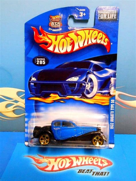 RARE Bugatti 1932 Type 50 Super 2002 Hot Wheels Silver ...