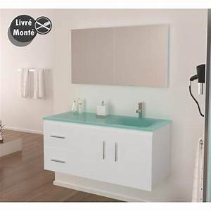 hera salle de bain complete simple vasque 120 cm laque With meuble salle de bain 120 simple vasque