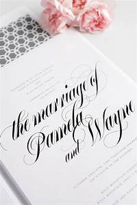 bold calligraphy wedding invitations in gray wedding With wedding invitation calligraphy houston