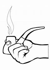Coloring Smoking Pages Clipart Smoke Colouring Sketch Risks Clip Radiokotha sketch template