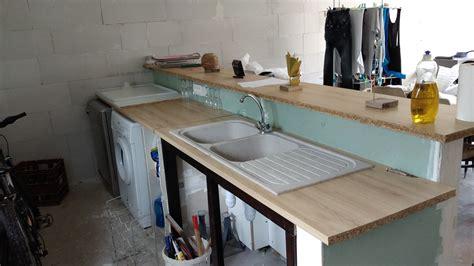 muret de cuisine plan de travail à fixer sur muret pour cuisine americaine