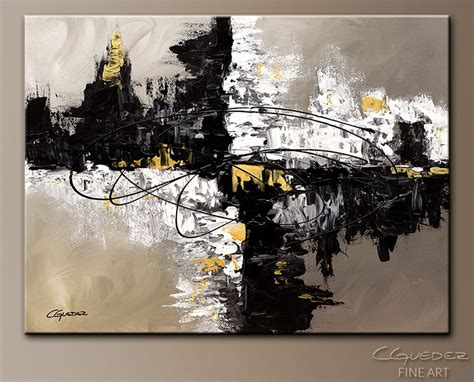 Abstract Black Painting by Original Canvas Painting Fusion Abstract