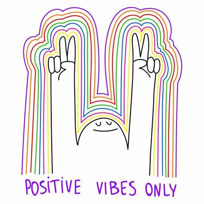 Positive Vibes Sticker Multicolored Smile Smiling Colorful