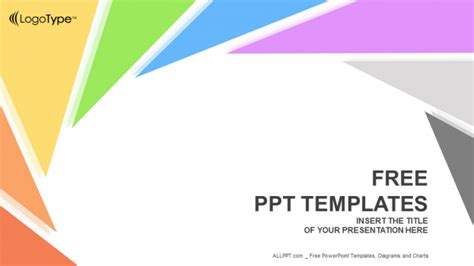 rotation triangle abstract powerpoint templates