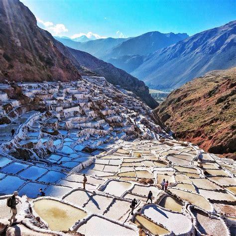 maras salt mines  peru pictures   images