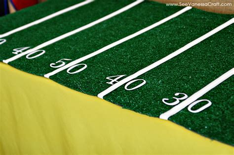 party easy football field tablecloth  vanessa craft