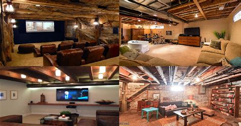 awesome unfinished basement ideas genmice