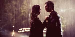 delena rain kiss | Tumblr