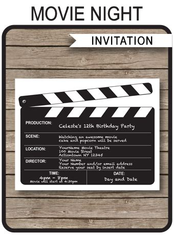 night party invitations template birthday party