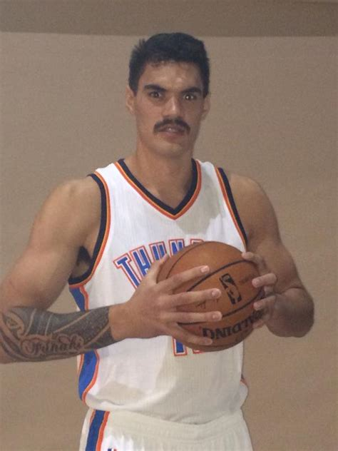 thunder media days steven adams stache bro   loud city