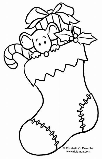 Christmas Coloring Printable Pages Tree Sheets Stocking
