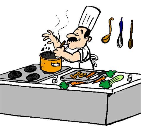 dessins de cuisine dessin de cuisinier dans la cuisine colorie par membre non