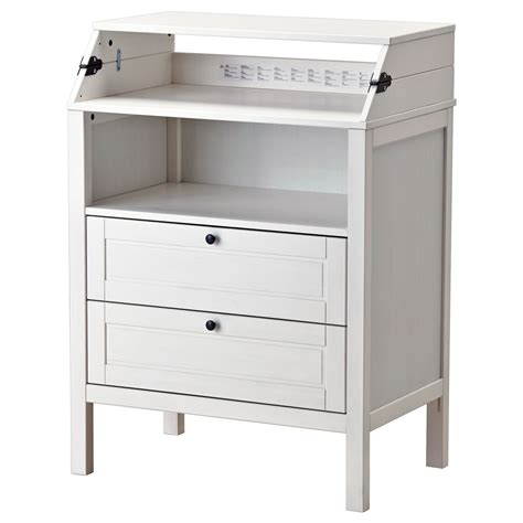 changing table with drawers sundvik changing table chest of drawers white ikea