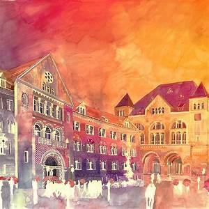 Colorful new architectural watercolors by maja wronska for Colorful new architectural watercolors by maja wronska
