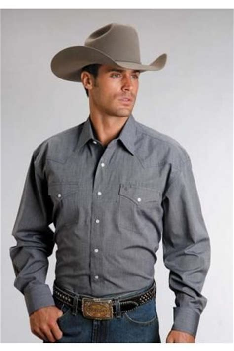 Men s Long Sleeve Blue 5661c4 End On End - Navy Stetson Menu2019s Collection- Instock   Sleeve ...