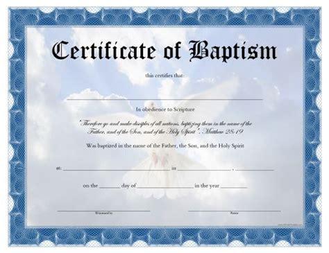 printable baptism certificate   printable