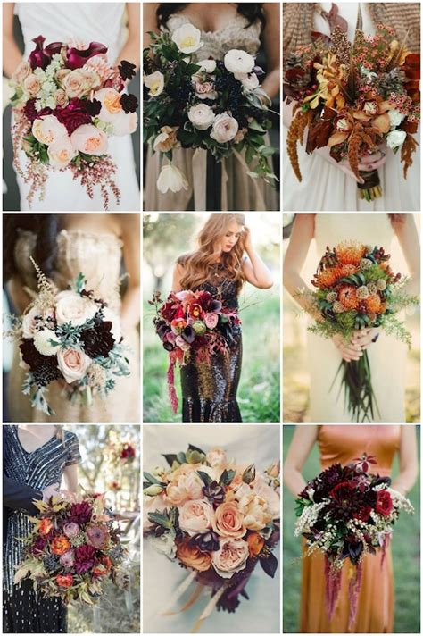 25 Stunningly Gorgeous Fall Bouquets For Autumn Brides