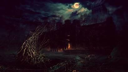 Fantasy Terror Photoshop Night Desktop Wallpapers Background