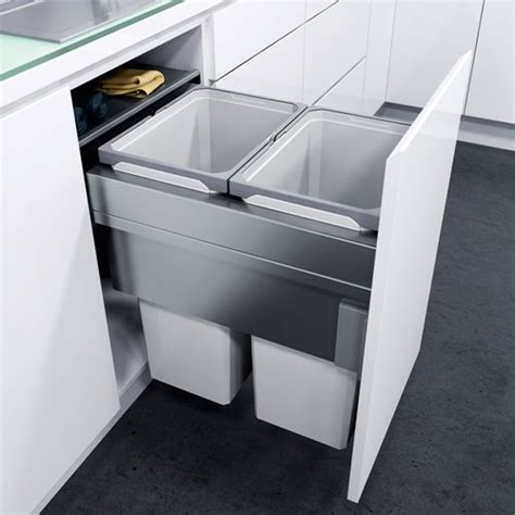kitchen cabinet trash pull out vauth sagel oko xxliner waste bin pullout 7966
