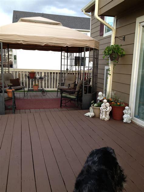 painted deck  behr deck  nailed  deck