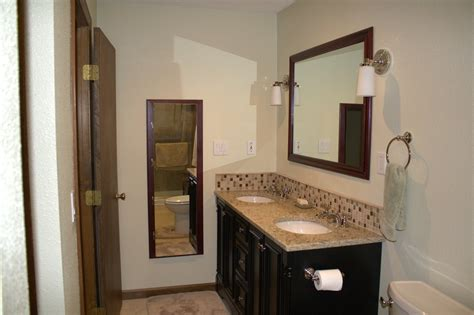 bathroom vanity backsplash ideas 23 nice ideas of glass tile trim bathroom
