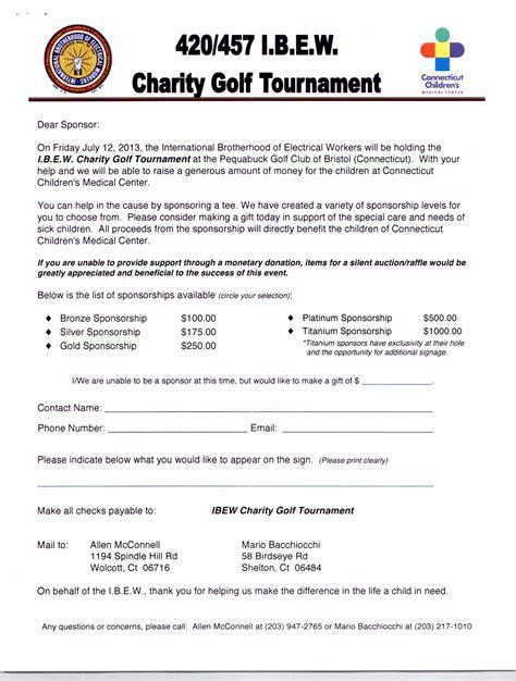 28 sponsorship letter for charity golf tournament