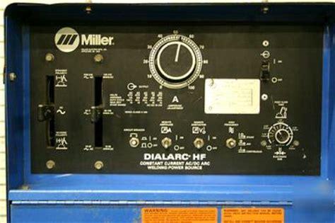 miller dialarc hf arc welding power source
