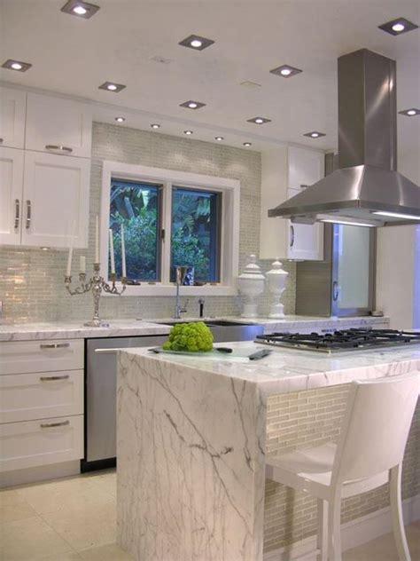 white carrera marble kitchen love  marble