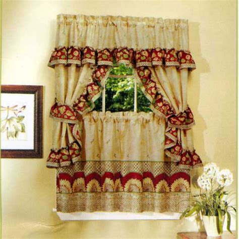 French Country Style Kitchen Curtains  Way To Extend