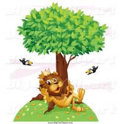 Lion Cartoon Tree