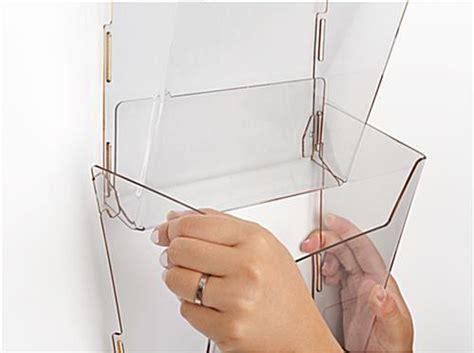 plastic magazine holders hanging magazine holder 8 view pockets acrylic 1545