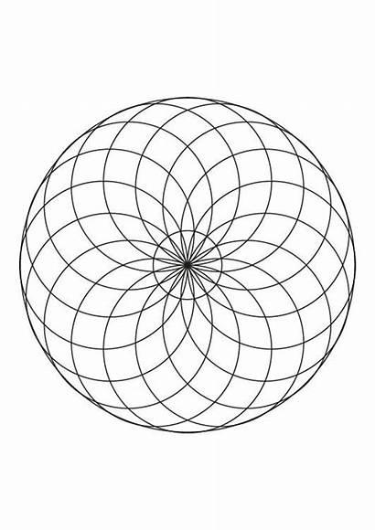 Circulos Dibujar Dibujo Circulo Mandala Colorear Imprimir