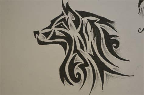 tribal wolf tattoos designs
