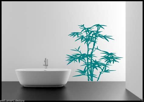 pochoir mural chambre bambou herbe feuilles arbre salle de bain chambre