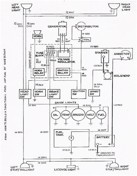 chevy rod wiring diagram get free image about