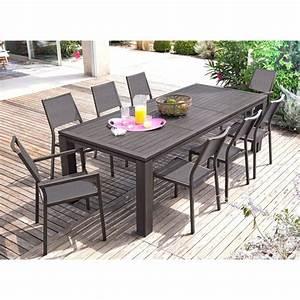 Table De Jardin Extensible Pas Cher : table de jardin extensible fiero en aluminium 180 ~ Dailycaller-alerts.com Idées de Décoration