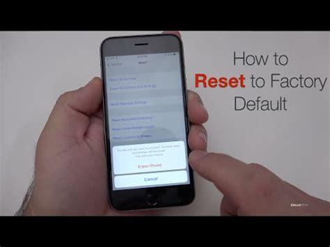 reset iphone 5c reset iphone 6 5s 5c 5 4s 4 reset to factory sett