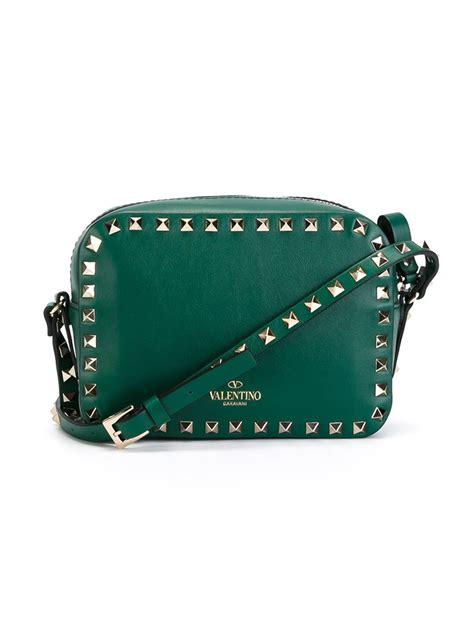 lyst valentino rockstud crossbody bag  green