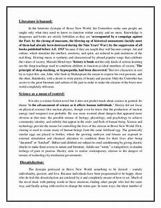 Brave new world literary analysis essay
