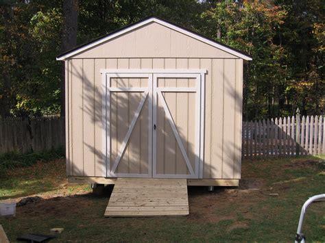 detail build  storage shed  skids geka