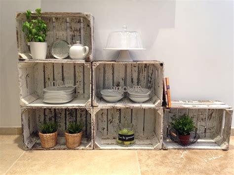 meubles de cuisine en bois brut a peindre cagettes et caisses en bois recyclées 10 créations