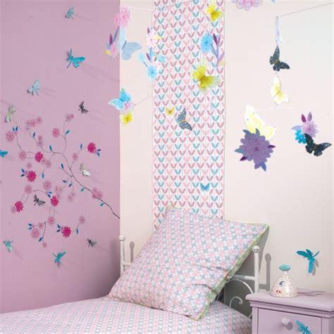 d oration chambre chambre fille papillon fleur djeco