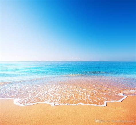 blue sky seawater beach photography backdrops