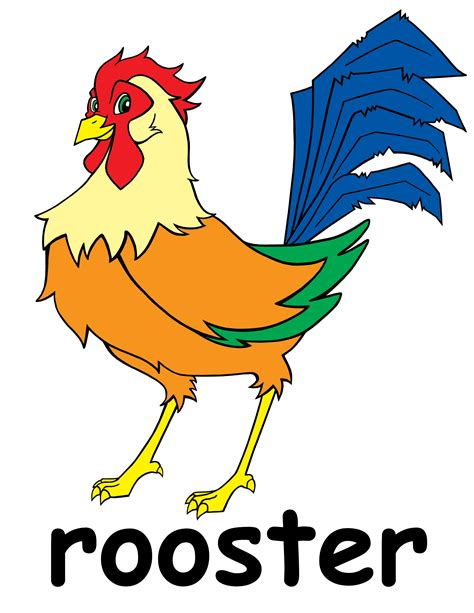 Rooster Clipart Rooster Clip Black White Clipart Panda Free