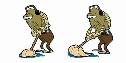 Mopping Fred Fish Spongebob Cursor Meme Hover