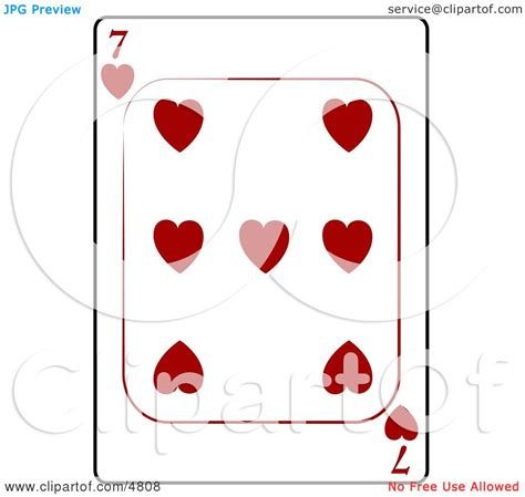 hearts playing card clipart  djart